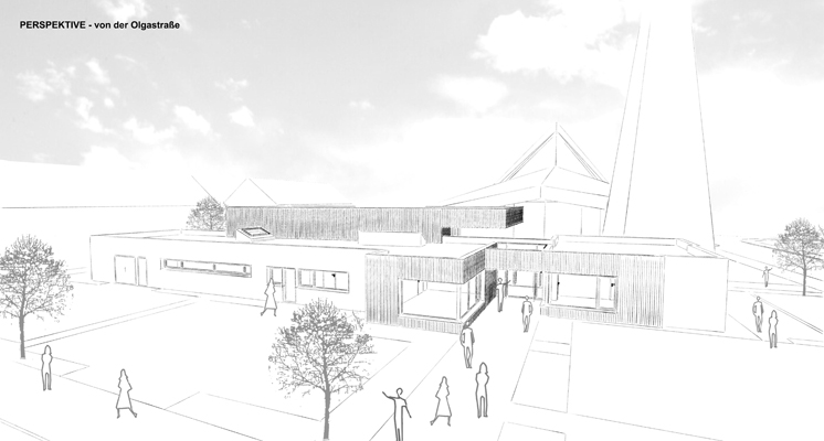Aussenansicht über Eck Grundschule Albeck - ein Bild von Kabalösungen Architektur Modernisierung Energieberatung